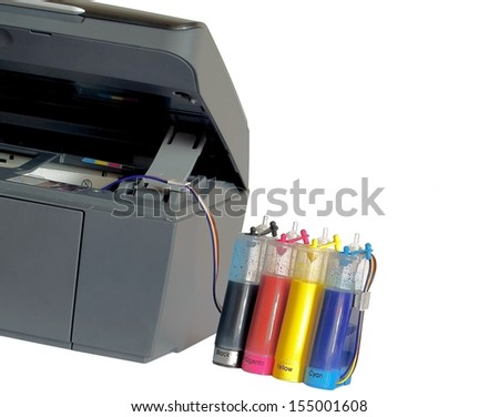 The printer and system of feed of ink