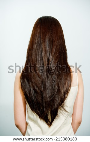 The process of hair coloring,hair coloring,Hair Colouring in process,Woman gets new hair colour,Hair Colouring in process,Beautiful long hair /woman,beautiful straight long hair - stock photo