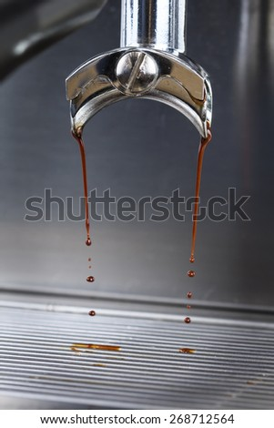 the process of making a cup of espresso - stock photo