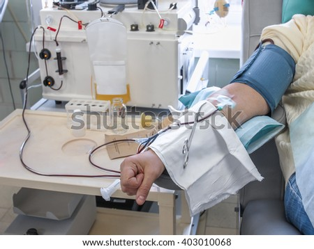 The process of sampling from the donor plasma. the instrument returns back to blood components, taking only the plasma
