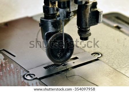 The production of shoes. The Shoe factory. The process of making shoes. The process of making shoes. - stock photo