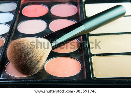 The Professional makeup palette with makeup brush