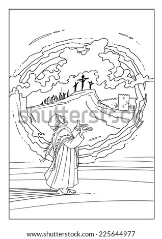 Old testament prophet stock photos royalty free images for Prophet isaiah coloring page