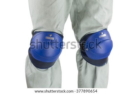 the protector motorcycle protective gear knee pad riding Elbow Knee Pads - stock photo