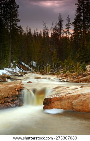 The Provo River in the Uinta Mountains, Utah, USA. - stock photo
