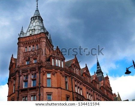 The Prudential Building, Nottingham city center designed by Alfred Waterhouse in 1894