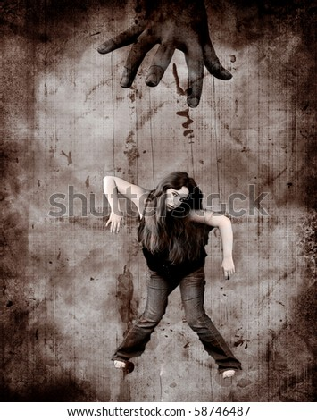 The Puppeteer Abstract Background - stock photo