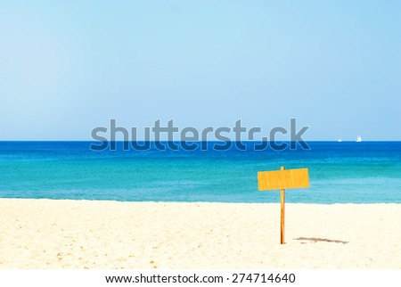 The Pure Line of the Horizon on the Sea and the Index. Nature background - stock photo