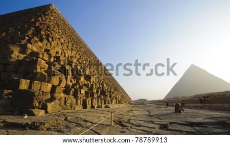 The Pyramids in Giza, Egypt - stock photo