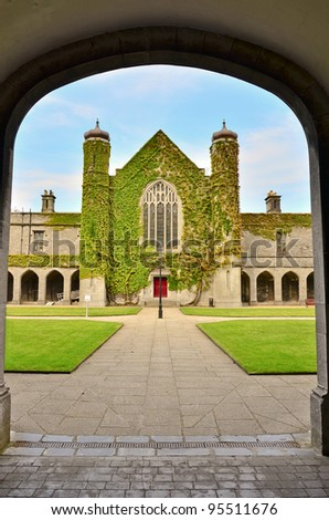 The Quadrangle, Galway, Ireland - stock photo