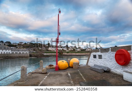 The quay at St Mawes on near Falmouth on the south coast of Cornwall - stock photo
