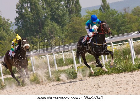 The race for the prize of the Victory Day in Pyatigorsk,Northern Caucasus,Russia.