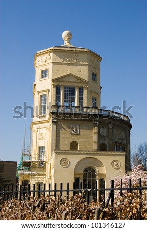The Radcliffe Observatory, part of Green College, Oxford University.  Designed by Henry Keene & James Wyatt in 1794 and used as an observatory until 1935.