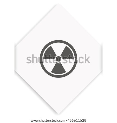 The radiation icon. Radiation symbol.