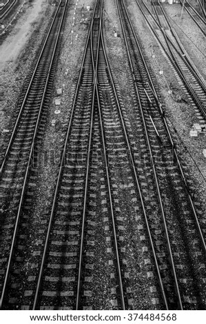 The rails of the railway