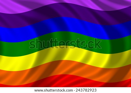 The rainbow flag, commonly the gay pride flag and sometimes the LGBT pride flag, is a symbol of lesbian, gay, bisexual, and transgender (LGBT) pride and LGBT social movements.