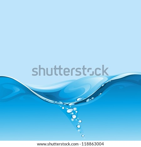The raster version water background. - stock photo