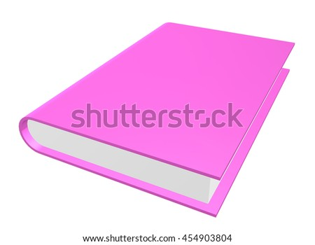 "The realistic book isolated on the white background. ""3d illustration"""