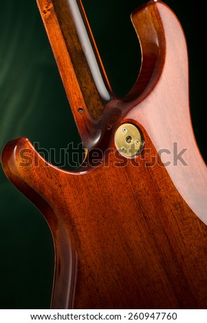 the rear wall of guitars - stock photo