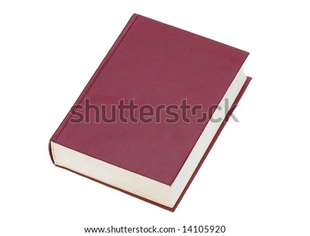 The red book isolated on a white background