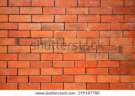 The red brick wall