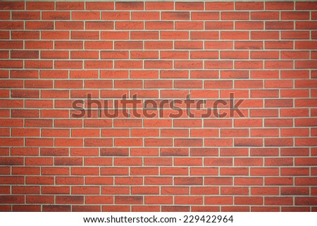 the red brick wall texture - stock photo