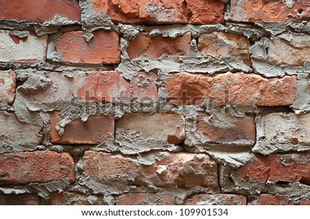 The red bricks wall