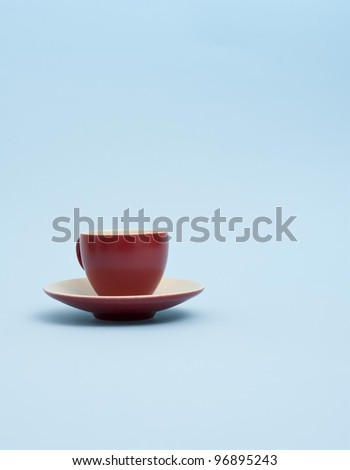 The red espresso mug - stock photo