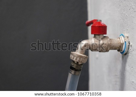 Faucet Red Wall Stock Images, Royalty-Free Images & Vectors ...