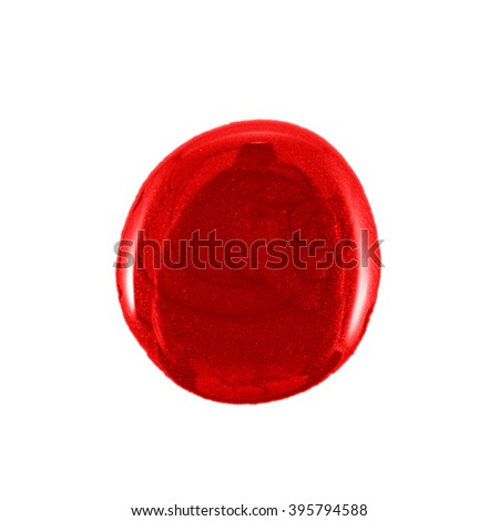 the red nail polish isolated - stock photo