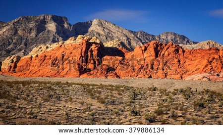 The Red Rock Canyon National Conservation Area near Las Vegas, Nevada