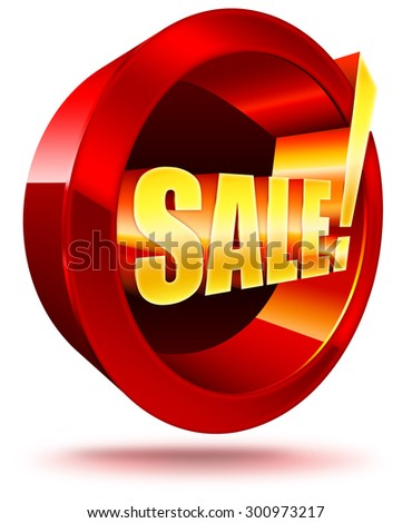 the red yellow emblem with the word sale