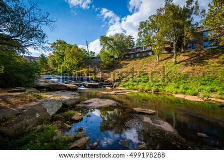 The Reedy River at Falls Park on the Reedy, in Greenville, South Carolina.