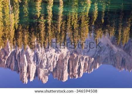 The reflection of the lake