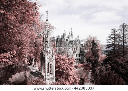 The Regaleira Palace (known as Quinta da Regaleira) located in Sintra, Portugal