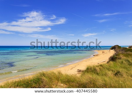 The Regional Natural Park Dune Costiere.BRINDISI (Apulia)-ITALY-The park, from Torre Canne to Torre San Leonado, covers the territories of Ostuni and Fasano  along eight kilometers of coastline. - stock photo