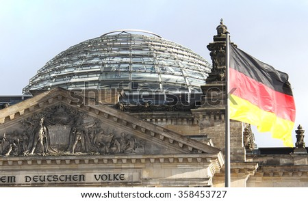 The Reichstag building in Berlin housing the German parliament
