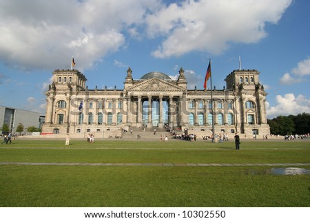 The Reichstag building of German government in Berlin