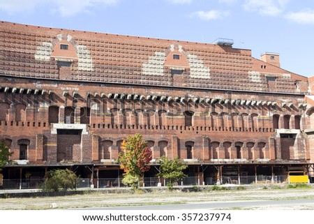 The remains of the Congress Hall or Kongresshalle at the Nazi Parade grounds Nurnberg, Germany - stock photo