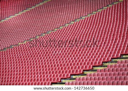 The repeat of football stadium Seats - stock photo