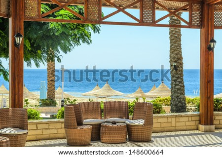 The resort in Egypt.  - stock photo