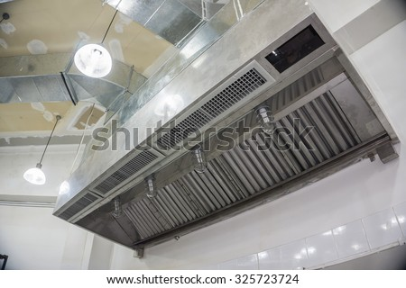 Restaurant Kitchen Ventilation restaurant kitchen hood stock images, royalty-free images