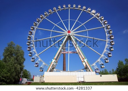 The reverse of the ferris wheel.