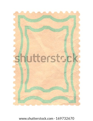 The reverse side of a postage stamp - stock photo