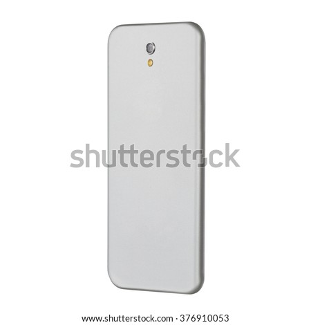 The reverse side of the smartphone to the camera lens