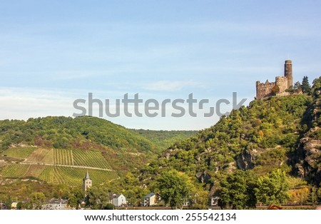 The Rhine valley is one of the most beautiful parts of Germany.  - stock photo
