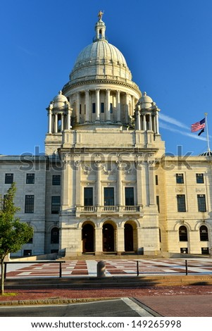 The Rhode Island State Capitol on Capitol Hill, Providence, RI, USA - stock photo
