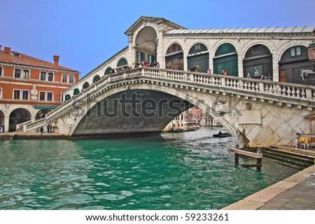 The Rialto bridge, Venice, Italy - stock photo