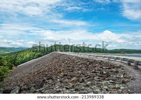 The ridge of Si-ri-kit dam,Utaradit,Thaila nd