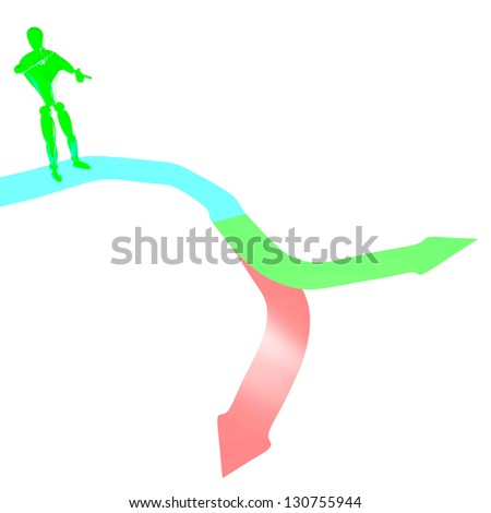 the right decision or wrong 3d rendered - stock photo